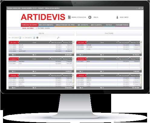logiciel devis factures ARTIDEVIS