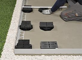 Concevoir une terrasse avec carrelage sur plots for Pose carrelage sur plots