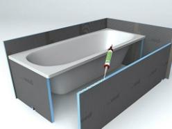 wedi bathboard habillage de baignoire 100 tanche et facile. Black Bedroom Furniture Sets. Home Design Ideas