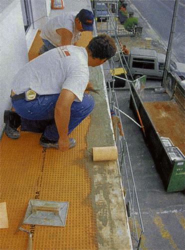 Carrelage Design natte d étanchéité sous carrelage : Mise en oeuvre de la natte de protection u00e0 lu0026#39;eau sous carrelage et ...
