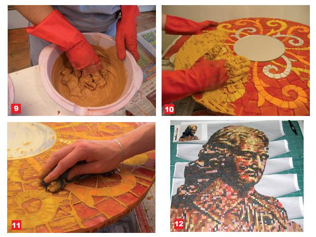 3 techniques pour cr er une mosa que mise en oeuvre - Comment faire une mosaique en carrelage ...
