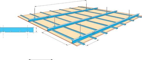 Fixation lambris bois plafond villeneuve d 39 ascq travaux for Fixation pour plafond suspendu
