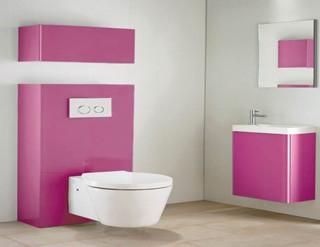 Salle de bains les l ments gain de place solutions - Meuble wc suspendu rangement ...