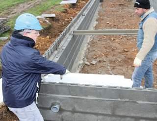Un plancher sur vide sanitaire conforme la rt 2012 mise en oeuvre - Mur de soubassement definition ...