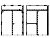 bloc porte 1 vantail imposte 1 v i portes coupe feu 44805p1. Black Bedroom Furniture Sets. Home Design Ideas