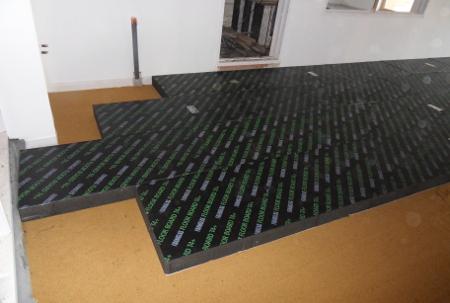 Isolation sous plancher avec granulat de beton cellulaire