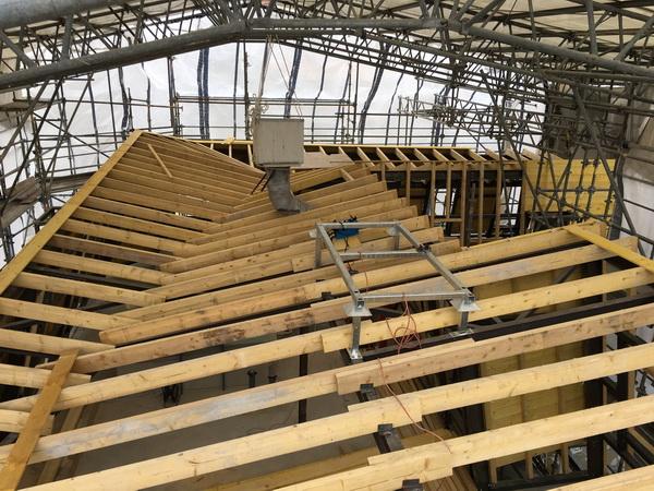 Restructuration et sur l vation d un immeuble de logements for Surelevation toiture prix