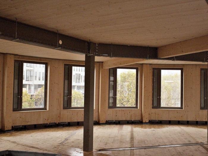 a paris un programme de bureaux r 7 en bois acier architecture. Black Bedroom Furniture Sets. Home Design Ideas