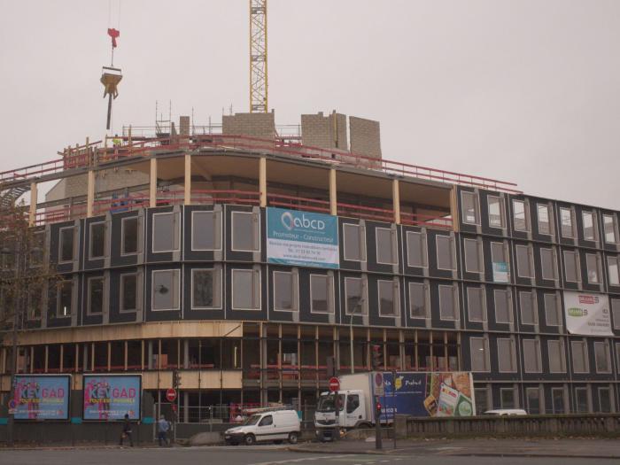 A paris un programme de bureaux r 7 en bois acier for Immeuble bureaux structure bois