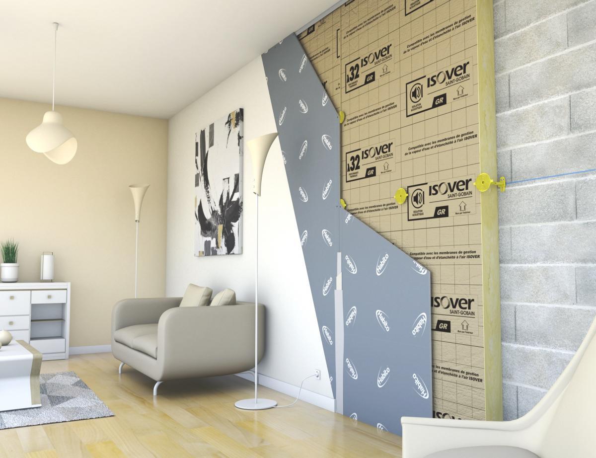 Placo Tete De Lit placo® et isover dévoilent le doublage des murs avec le système