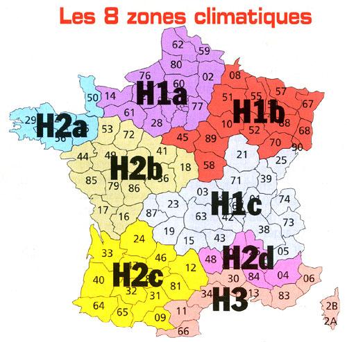 R glementation thermique 2005 g n rale r glementation - Zone climatique rt 2012 ...