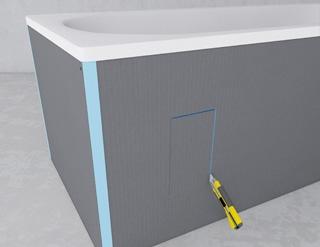 panneaux pr ts carreler une parfaite tanch it mise en. Black Bedroom Furniture Sets. Home Design Ideas