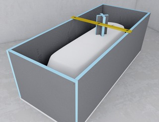 Panneaux pr ts carreler une parfaite tanch it mise en for Panneau fibre de verre salle de bain