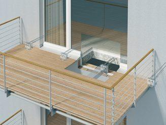Nouvelles fixations et les d fis de l ite solutions isolation - Comment construire un balcon ...