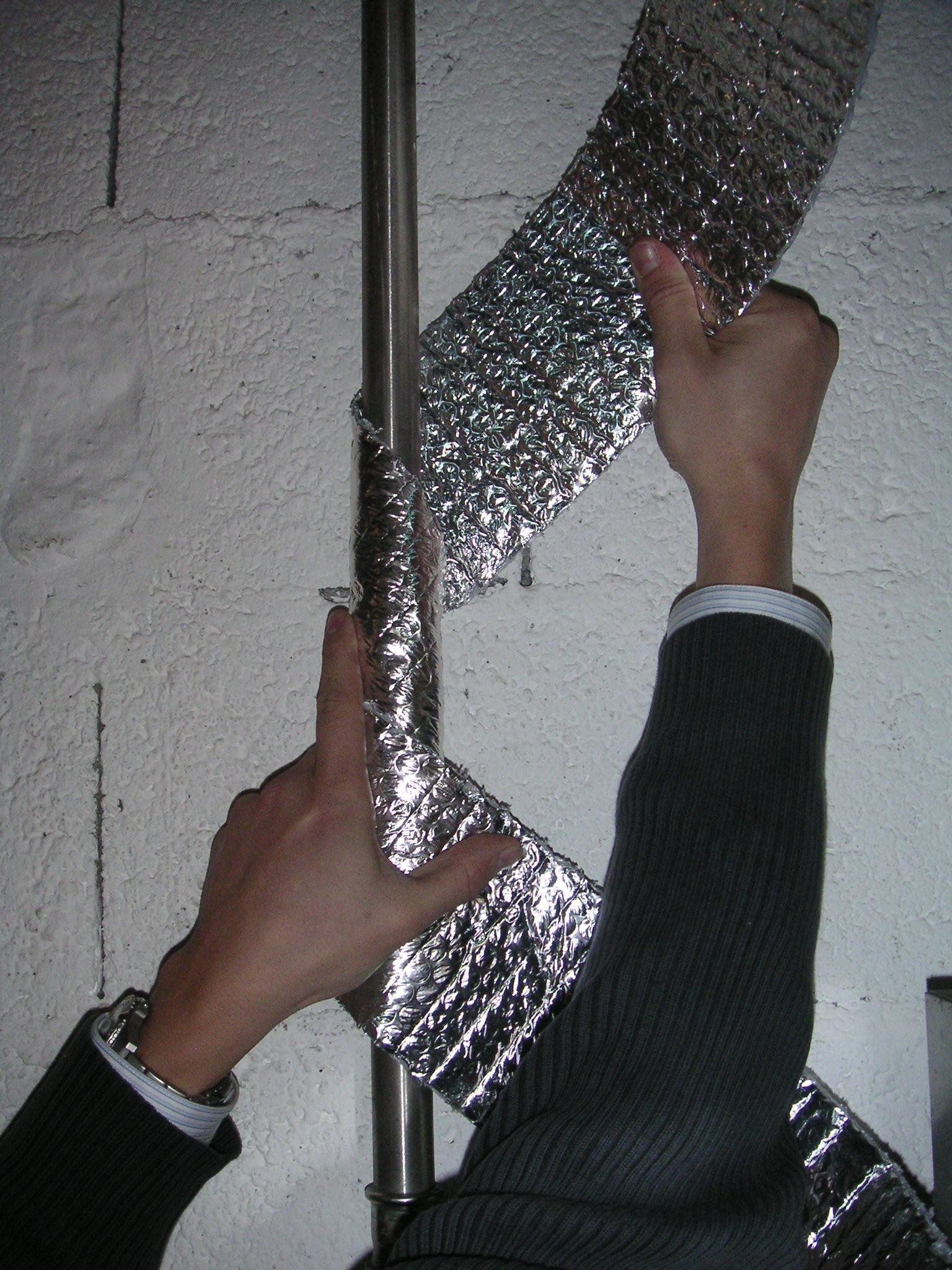 Isol tuyaux laine de verre isolation thermique ou for Laine de verre acoustique